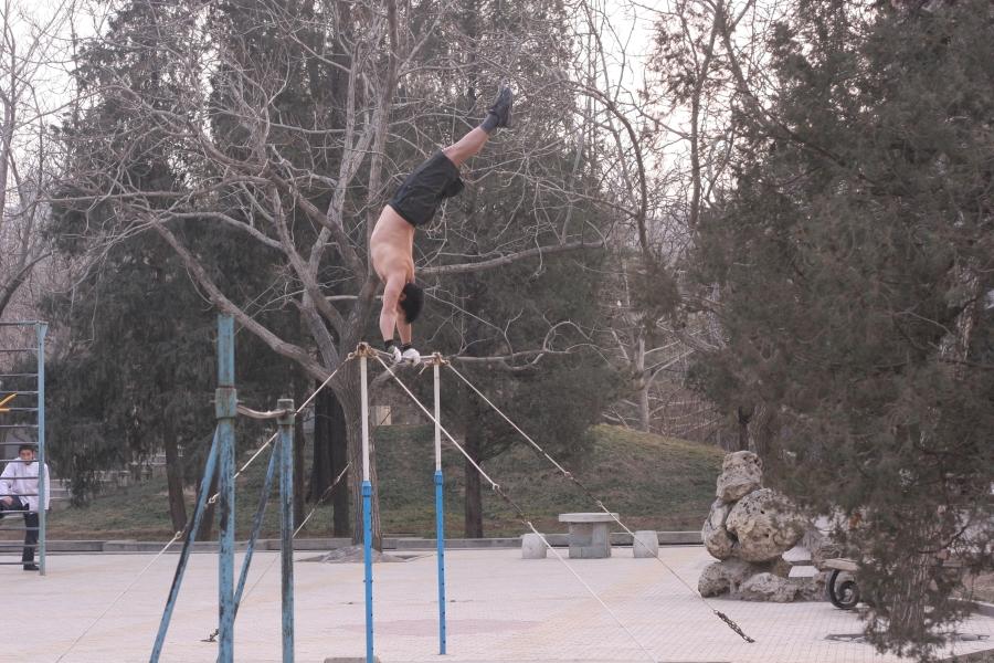 Gymnastics in Ritan Park Beijing