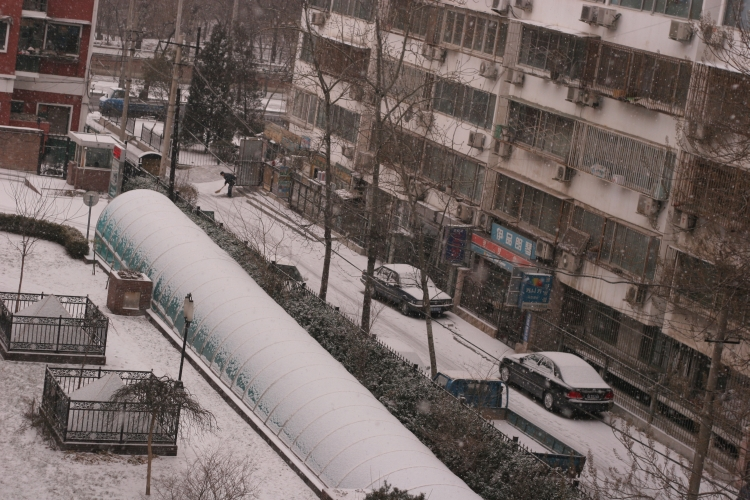 Snow in Beijing China