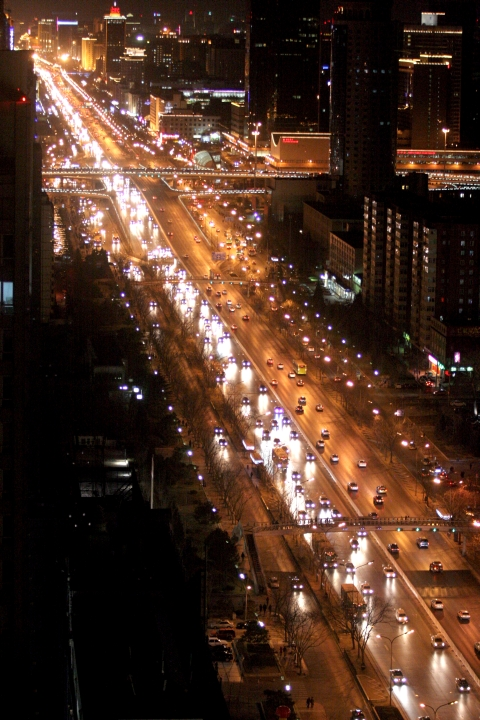 Traffic on Changan Boulevard