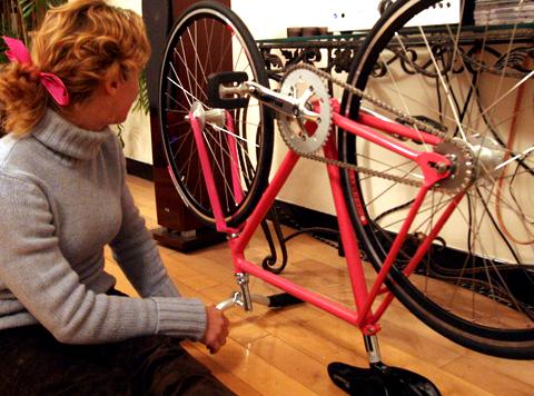 Pink Track Bike