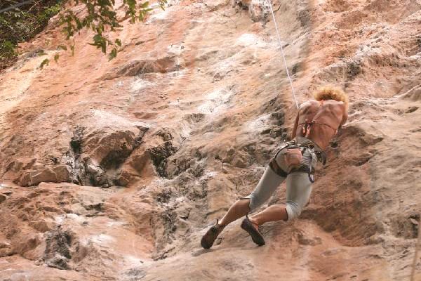 Ines Climbing in Krabi