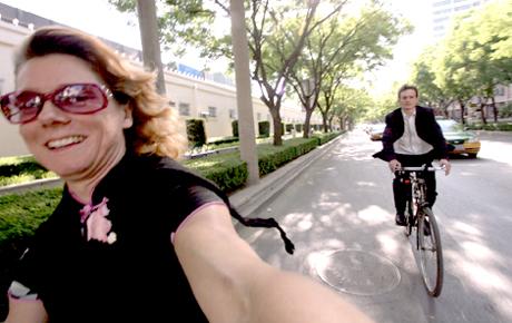 Riding Bike Wearing Qipao
