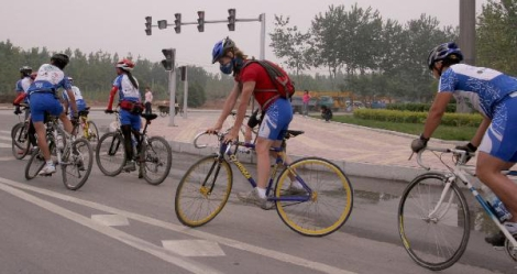 Track Stands at Traffic Light