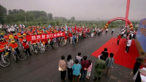 Bike Riders attending the Green Ceremony