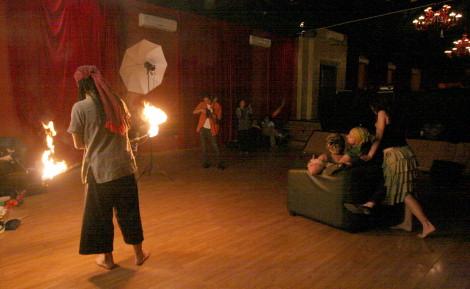 Fire Pole Juggling