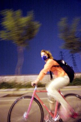 Bicycle Riding at Night