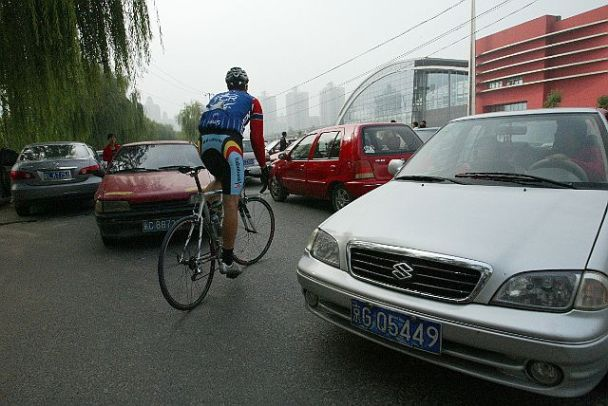 Cycling through Beijing Traffic