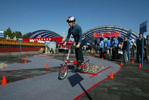 Ines Racing on Small Bike