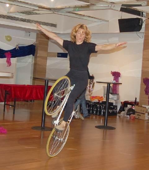 Ines on Trick Bike