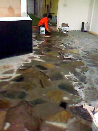 Floor of Bouldering Room Entrance