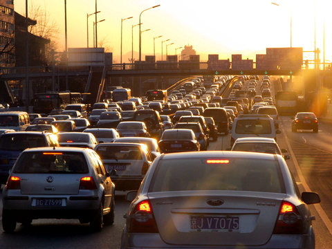Beijing Ring Road Congested Traffic