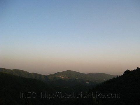 View from one of the summits of Fragrant Hills