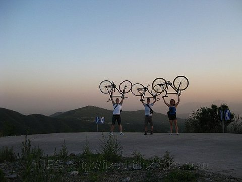 Fixed Gear Bikes on top of Xiang Shan