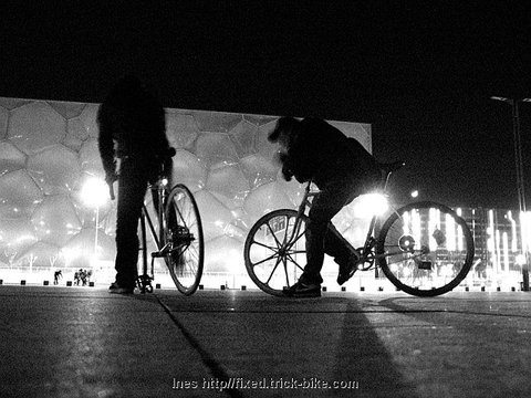 Fixies at the Olympic Watercube