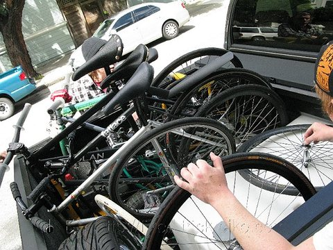 Bikes on Pick up