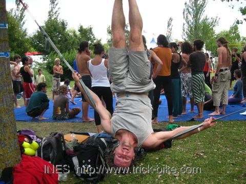 Slack Line Workshop at EJC 2009