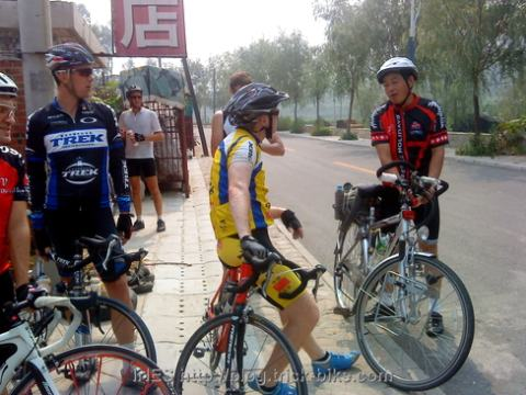 Chinese Cyclist on a Day Tour