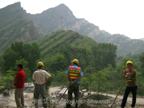 Construction on China National Road Number 108