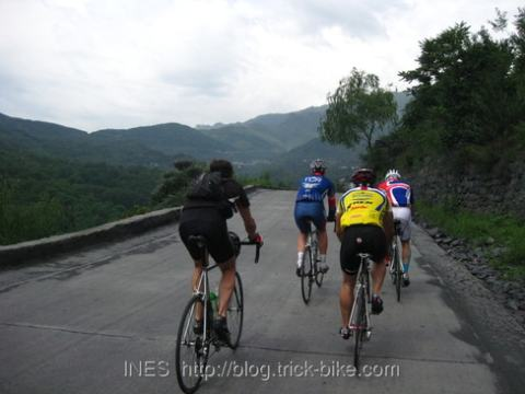 Beijing Peloton Cycling to the Foot of Bai Hua Shan