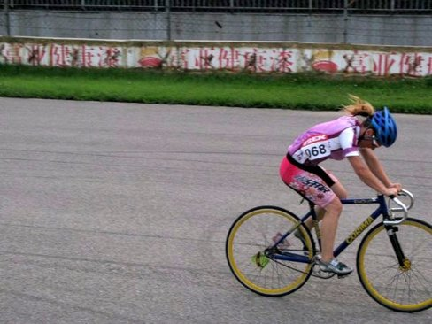 Riding Fixed Gear at the Bike Race