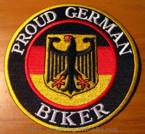 Proud German Biker Badge