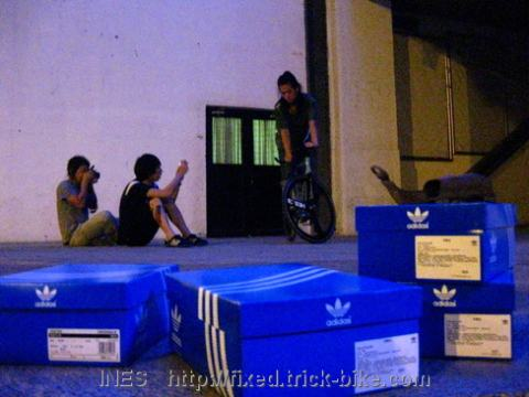 Adidas Shoe Photo Shoot for New Collection with Fixed Gear Bikes
