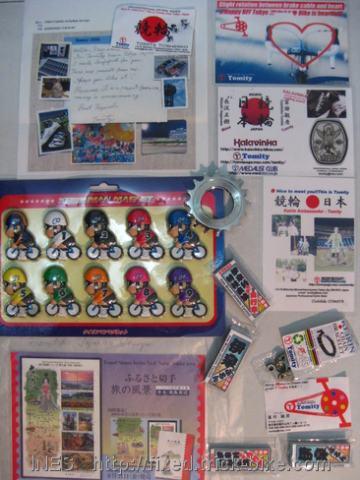 Presents from Keirin Ambassador Tomita Toshihiko