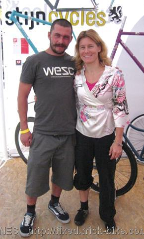Ines Brunn and Bike Friend at Euro Bike