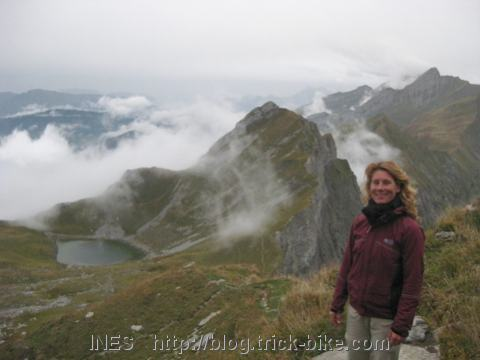 Ines Hiking in France near Annecy