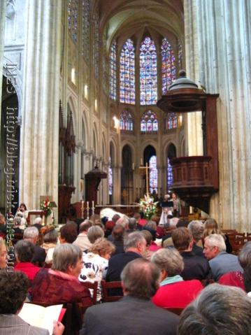 Wedding Guests inside the Tours Cathedral