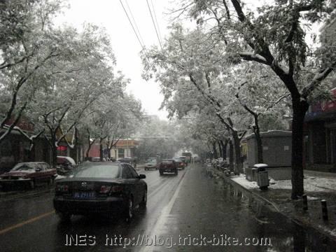 Snowy Beijing Street