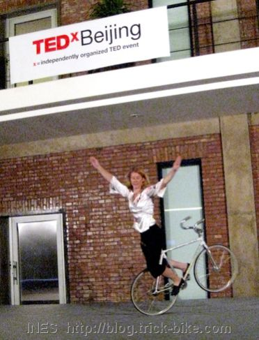 Ines Brunn Tricks on a Bicycle at TEDxBeijing