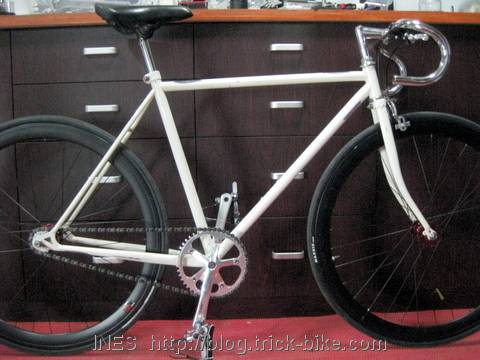 Chinese White Fixed Gear Bike Conversion