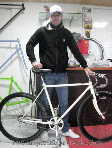 Fixie Bike and his Proud Owner