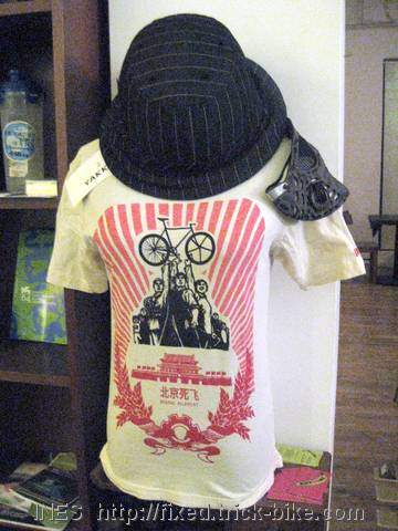 First Beijing Alleycat T-shirt and Yakkay Helmet