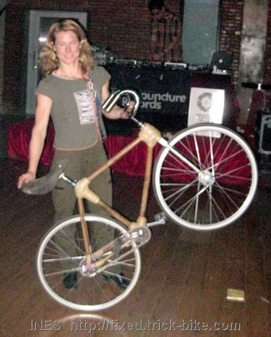 Ines and the bamboo trick bike by Zack Jiang