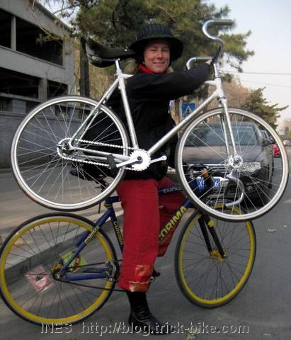 Ines with Trick Bike
