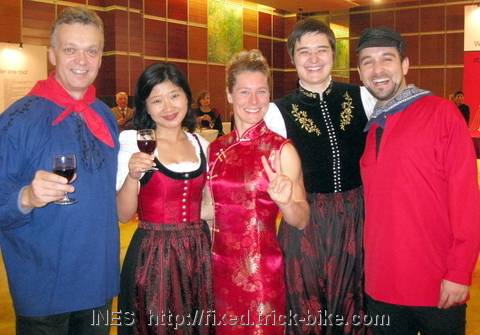 German Center management team in traditional German clothes