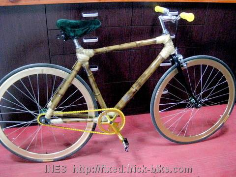 Amazing Bamboo Fixed Gear Bicycle