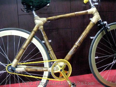 Beautiful Bamboo Fixed Gear Bicycle