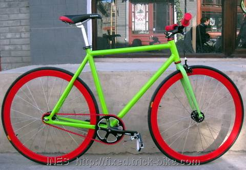 Colorful Natooke Fixed Gear Bicycle
