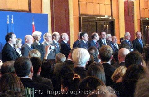 Fillon, finance minister Christine Lagarde and chief executives from French industry