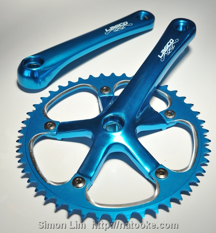 Taiwanese Lasco cranks and chainring