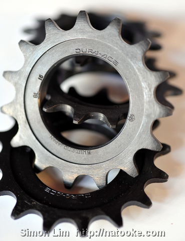 Japanese Shimano Dura-Ace cogs with NJS stamp