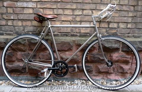 Andi's beautiful fixed gear bicycle