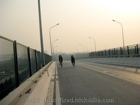 Cycling on empty Beijing roads