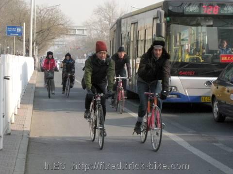 Beijing Fixed Gear Bike Group Outing