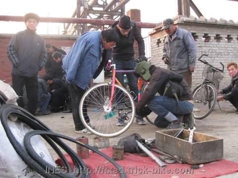 Street Bike Repair Shop in Beijing