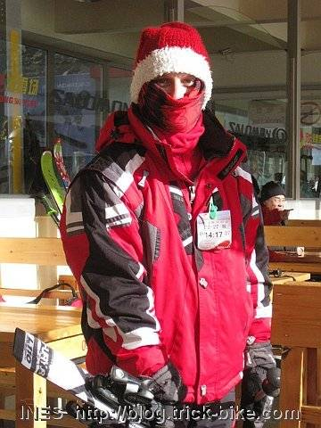 Santa Sam Ski Teacher