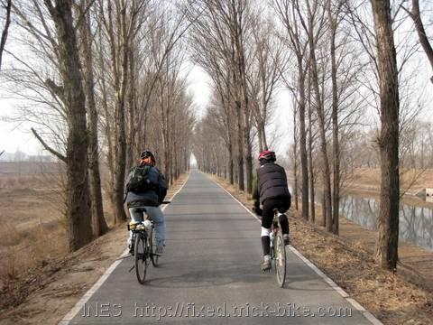 Relaxing New Years Bike Ride in Beijing